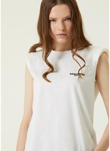 Dsquared2 Dsquared2  Logo Baskılı Vatkalı T-shirt 101617159 Beyaz
